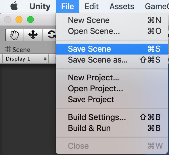 Save Scene