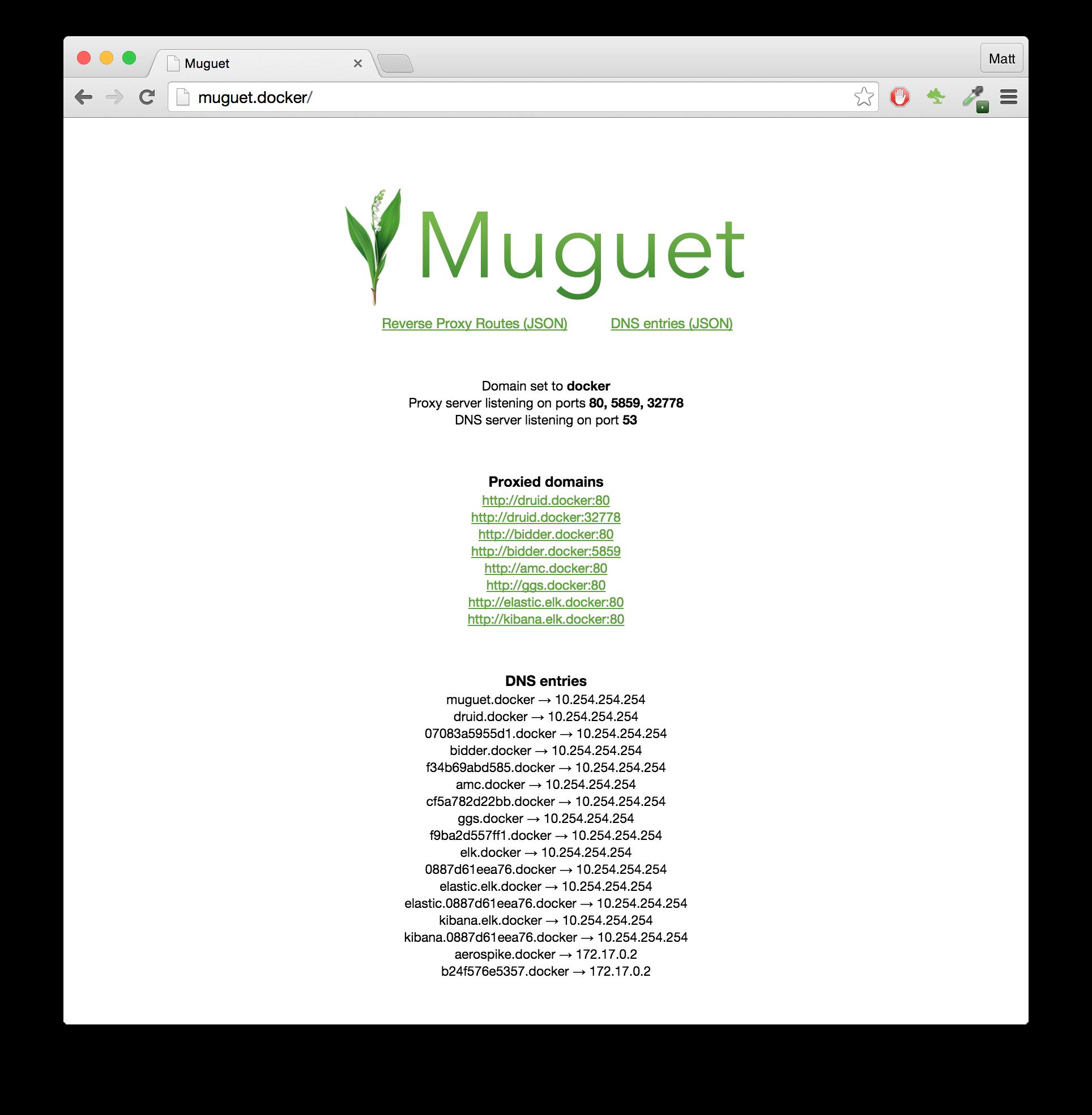 Muguet Dashboard