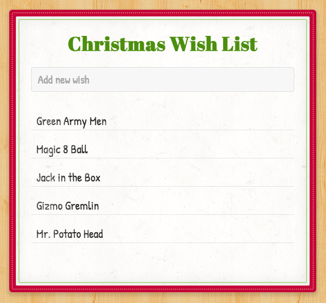 Today\'s in a good one: Building a real-time christmas wishlist with ...
