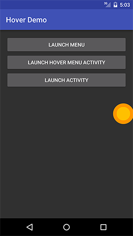 Demo Hover Menu - Launching