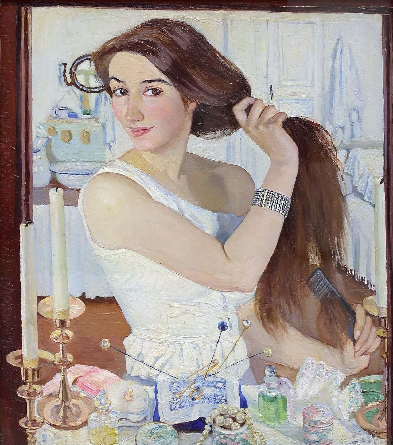 At the Dressing Table by Zinaida Serebriakova