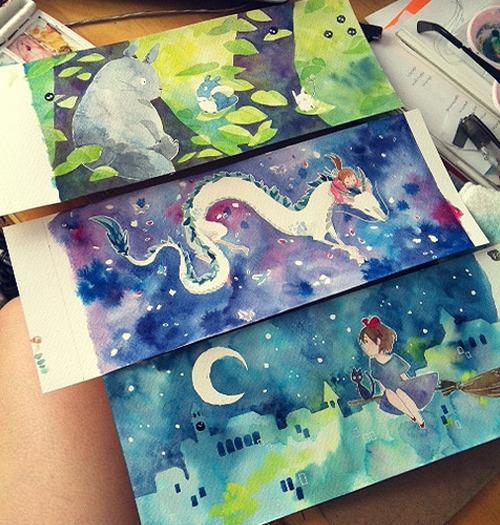 Miyazaki watercolors