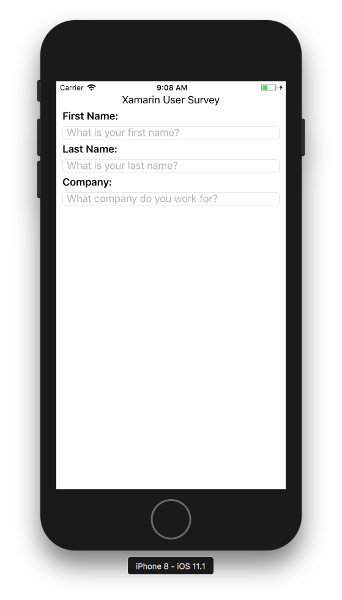 The survey app