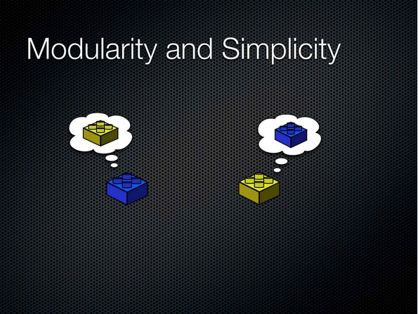 00:34:19 Modularity and Simplicity - build slide