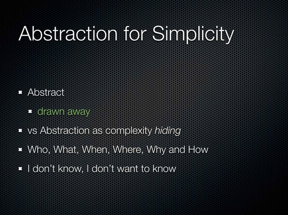 00:49:20 Abstraction for Simplicity