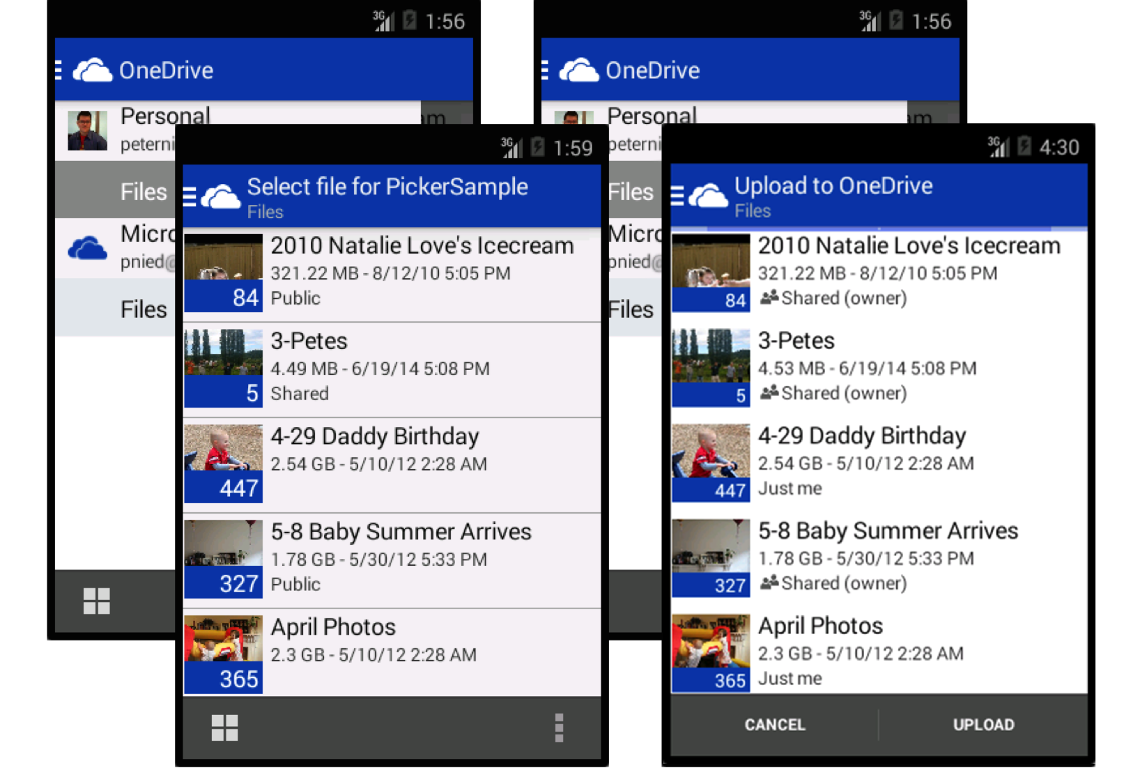 Preview of the OneDrive Picker in Action
