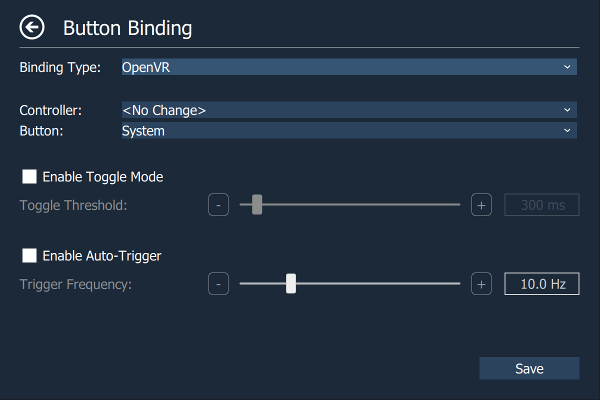 Digital Binding Page - OpenVR