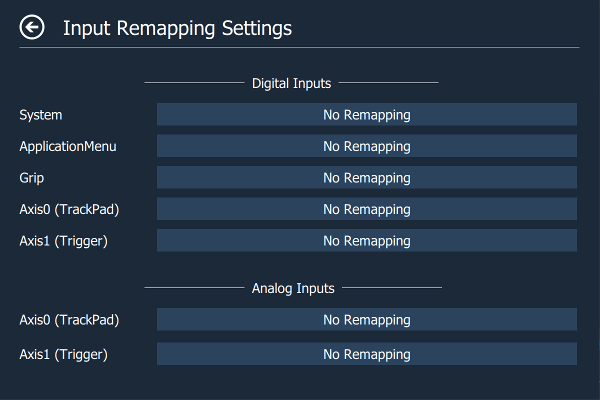 Input Remapping Page