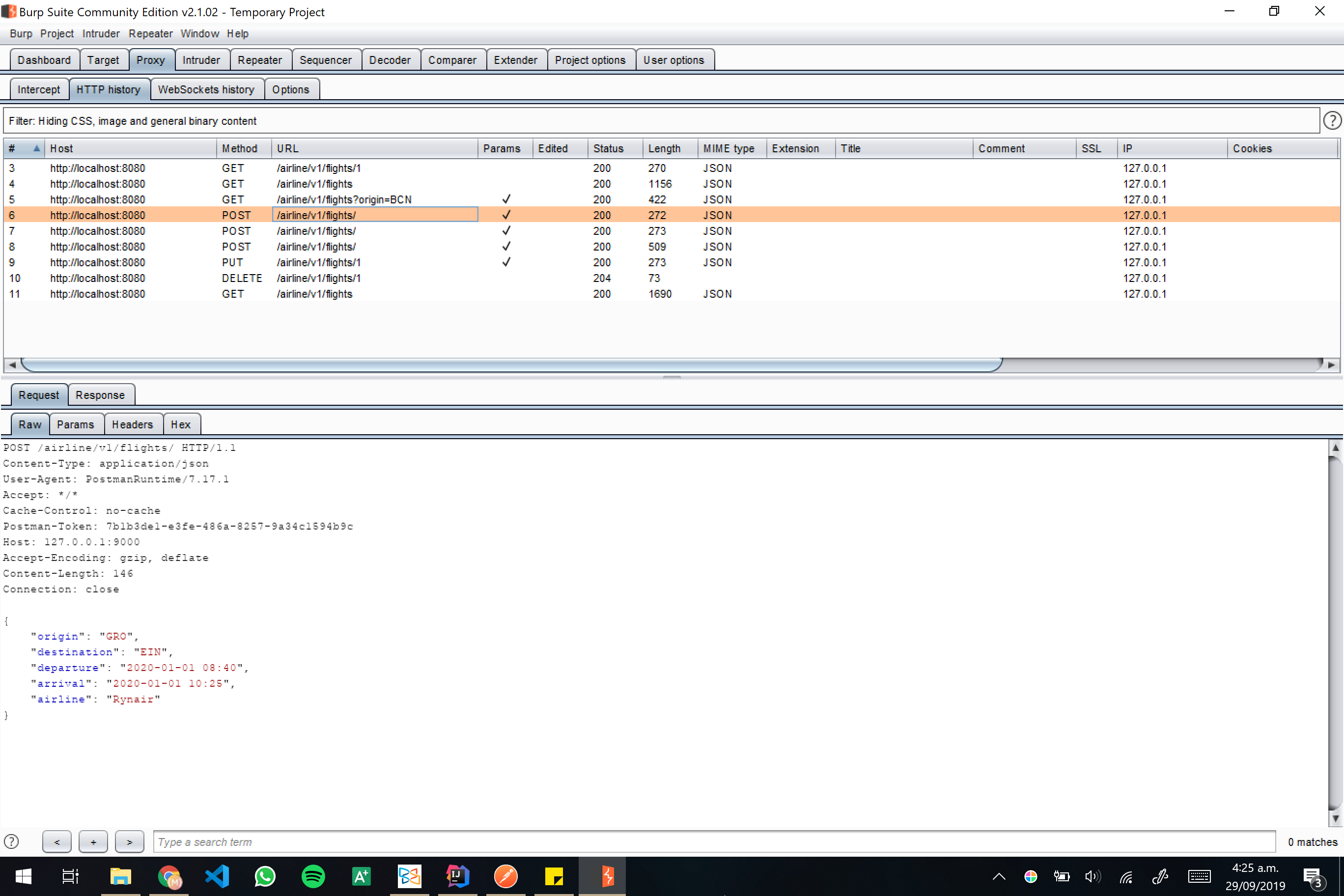 Burp screenshot 11