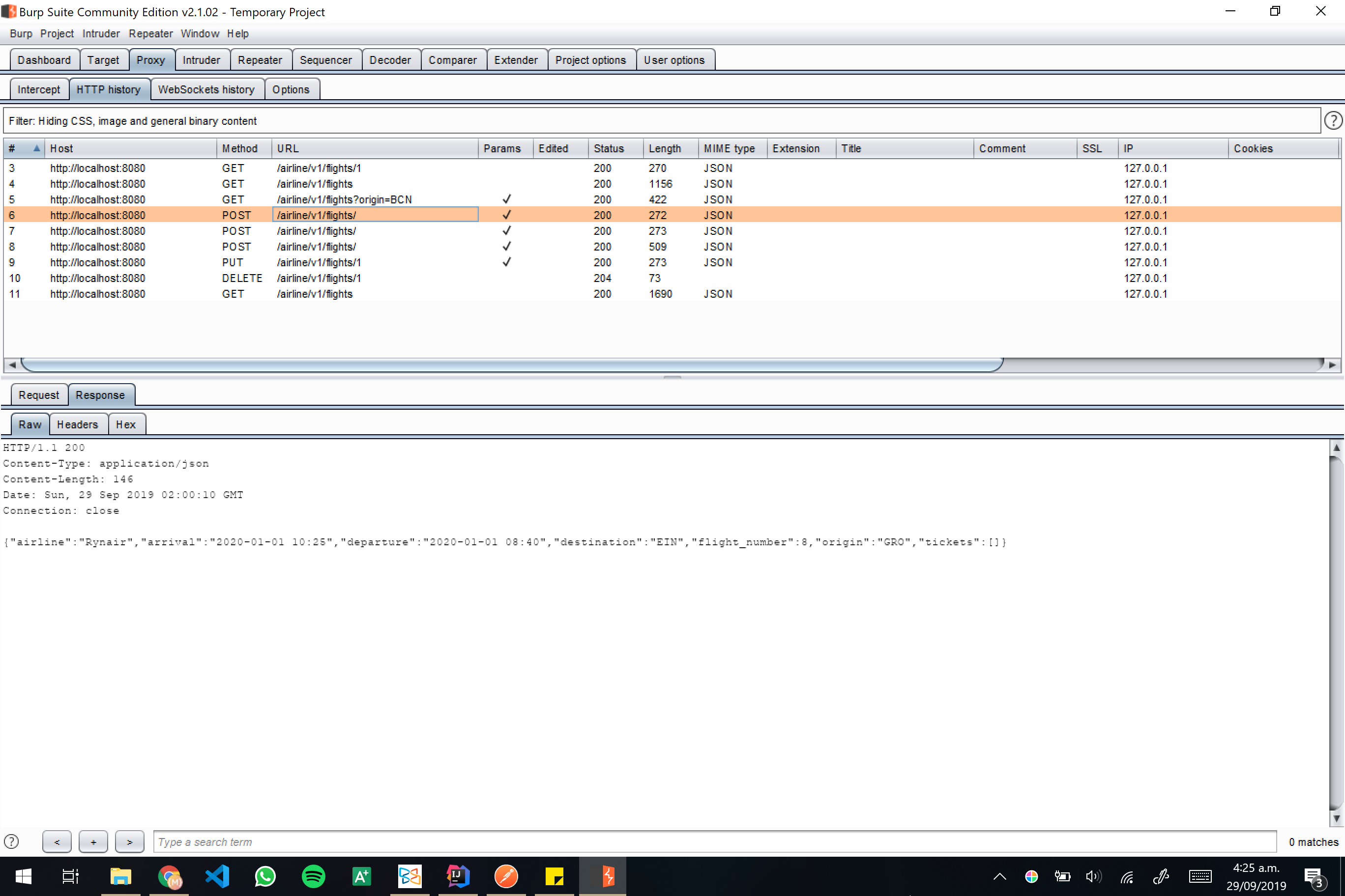 Burp screenshot 12