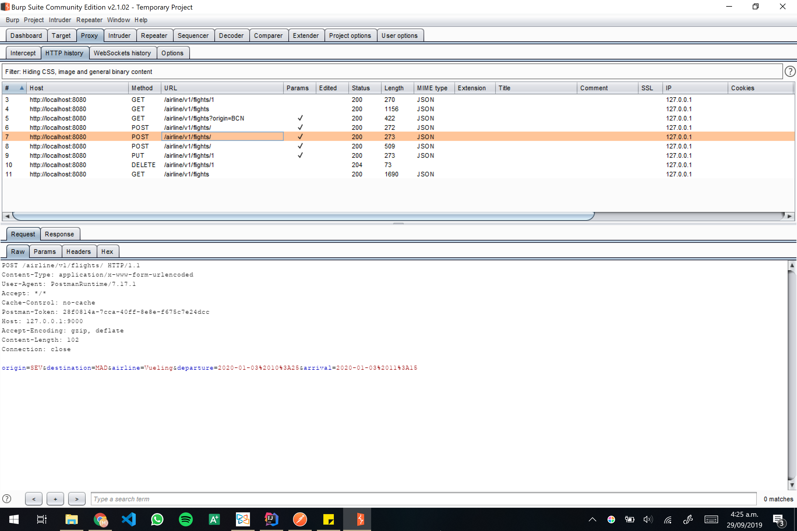 Burp screenshot 13
