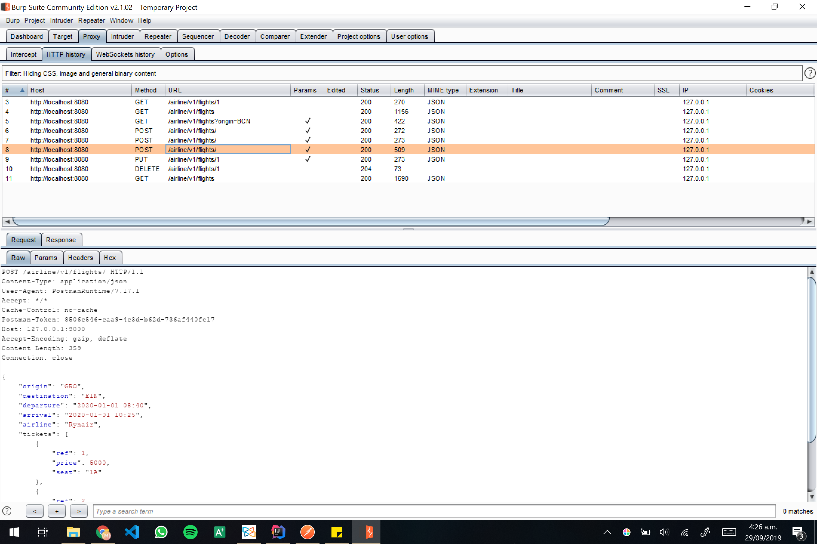Burp screenshot 15