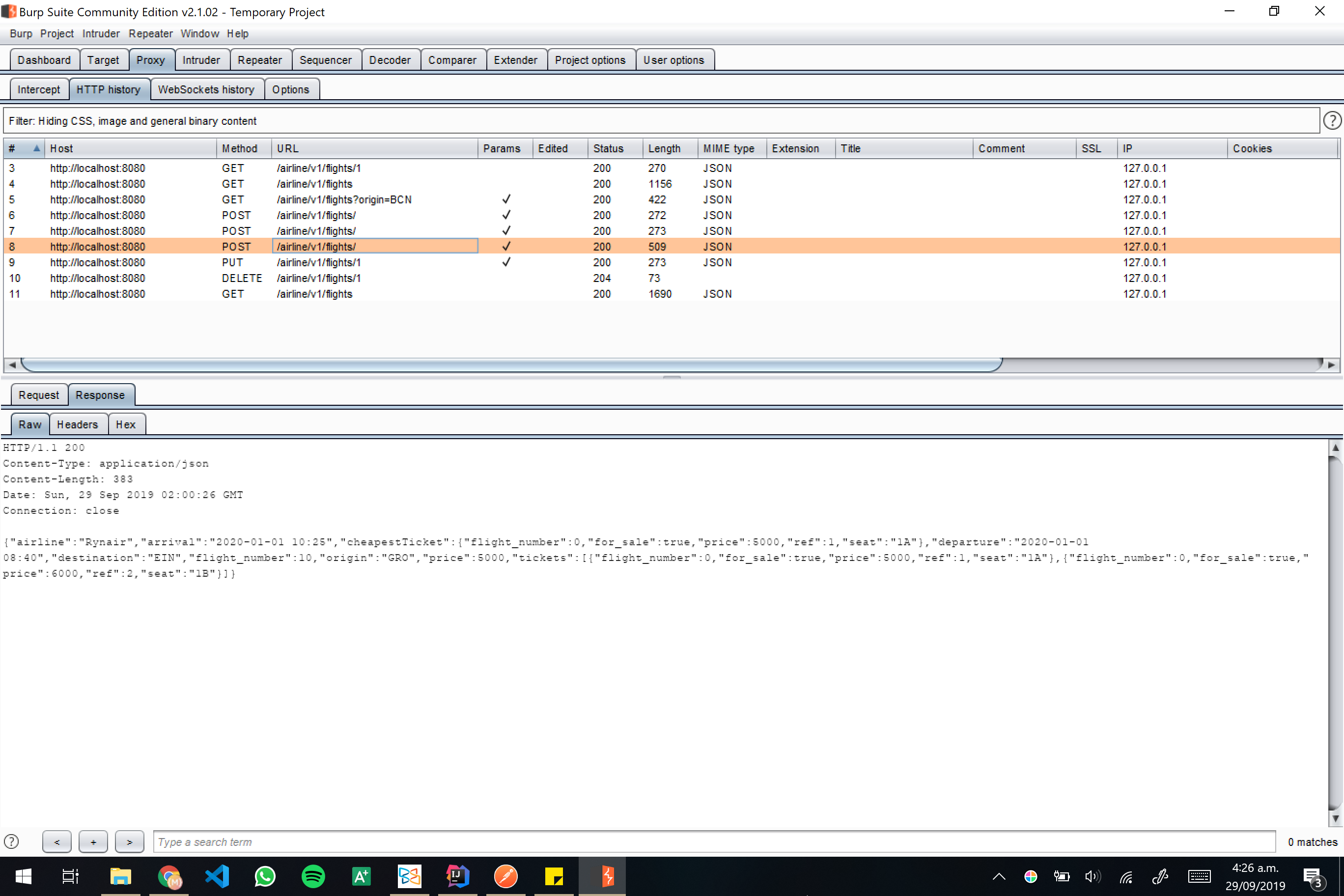 Burp screenshot 16