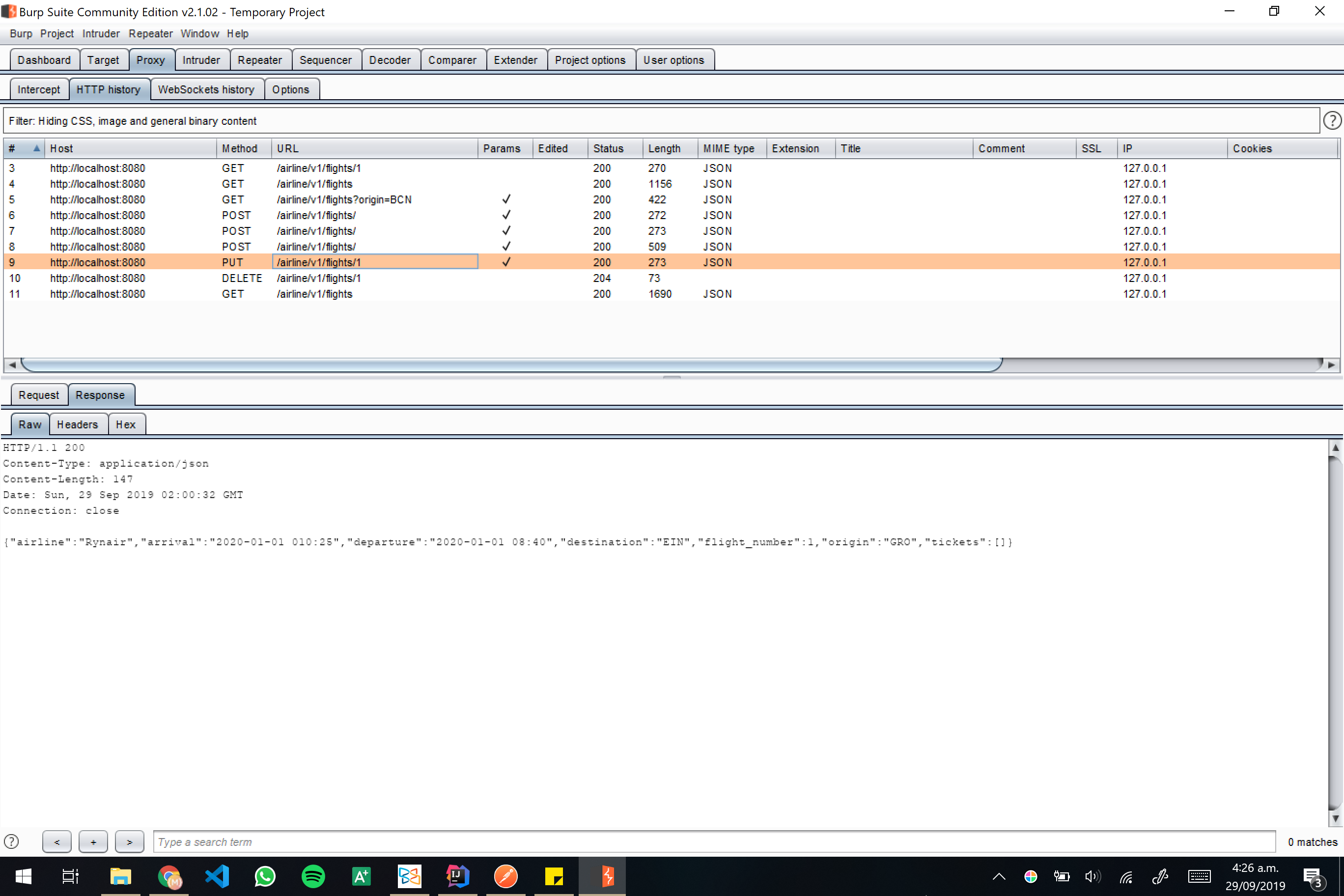 Burp screenshot 18