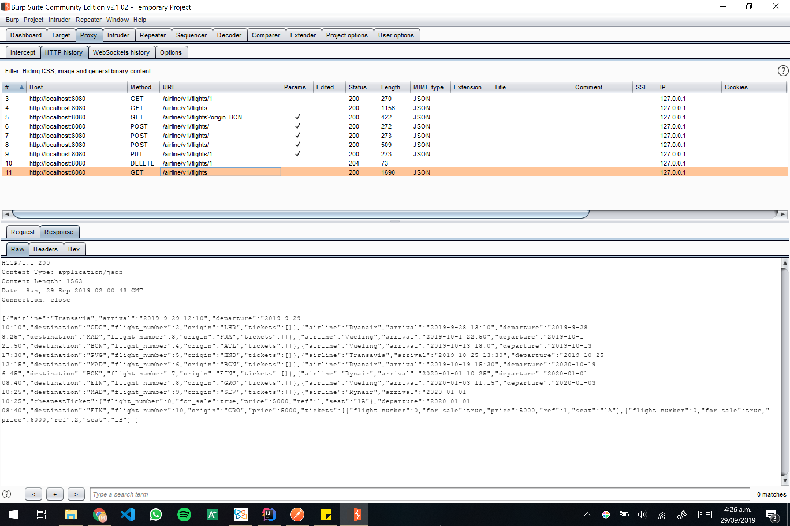 Burp screenshot 22