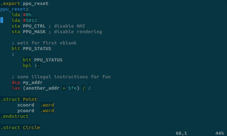 GitHub - maxbane/vim-asm_ca65: Vim syntax highlighting for
