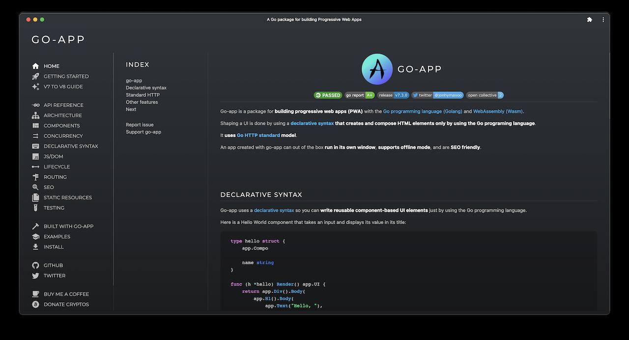go-app documentation