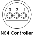 Gamecube and N64 controller connections