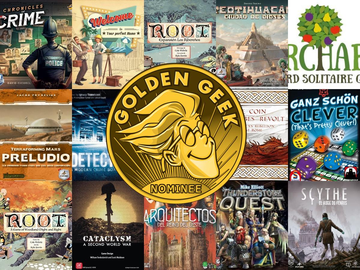 Nominaciones de los Premios Golden Geek de 2018 - Guía de juegos en solitario