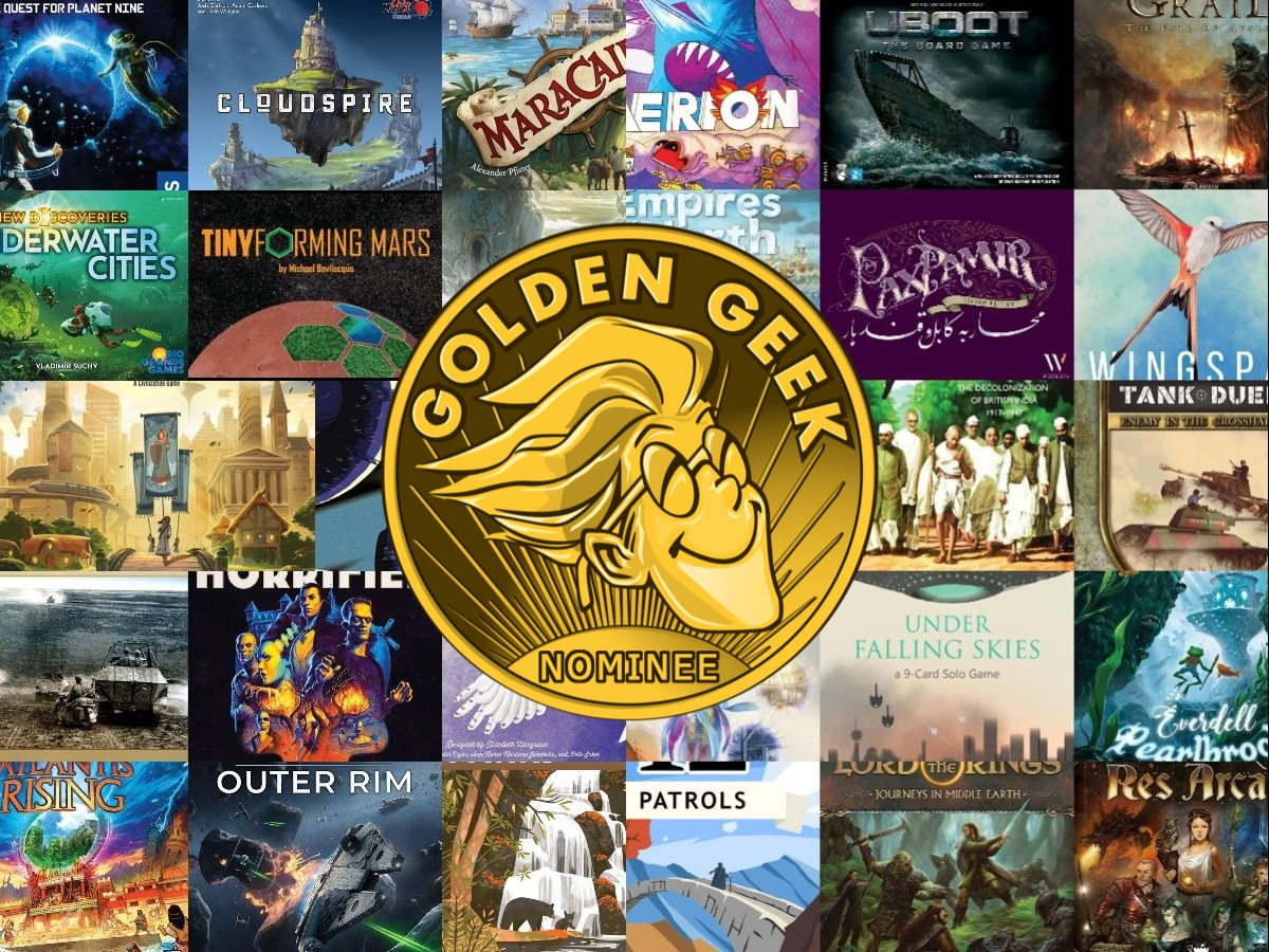 Guía de juegos en solitario: Nominaciones de los Premios Golden Geek de 2019