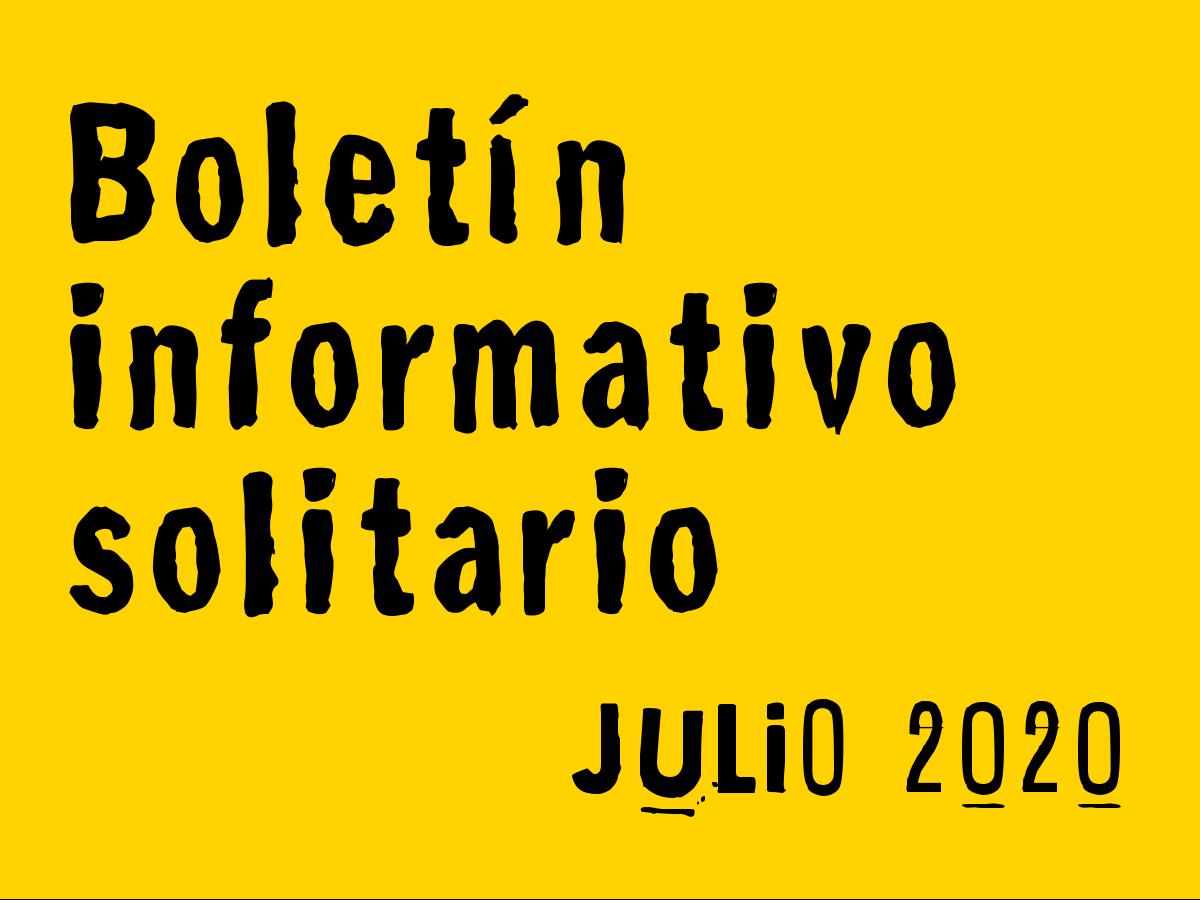 Boletín Informativo Solitario: julio 2020