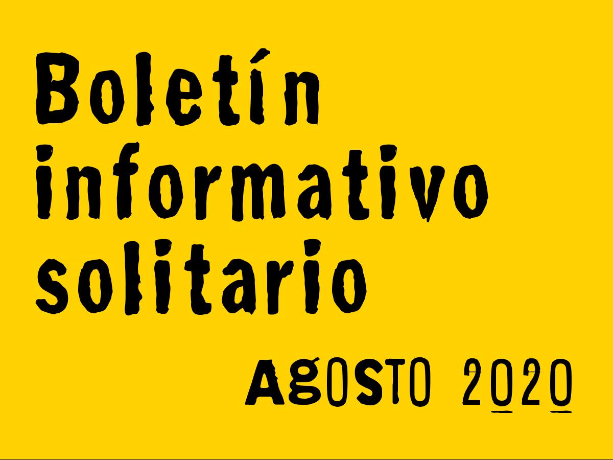Boletín Informativo Solitario: agosto 2020