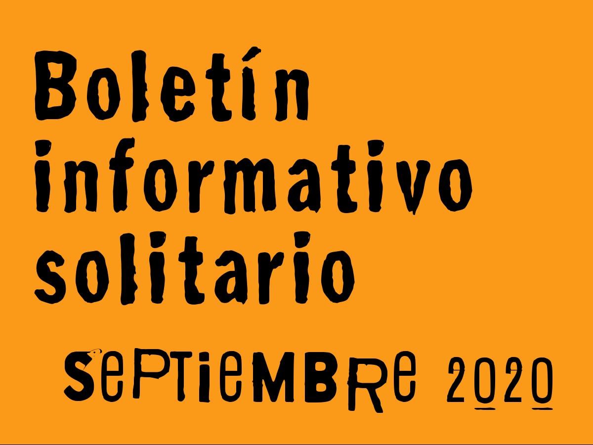 Boletín Informativo Solitario: septiembre 2020
