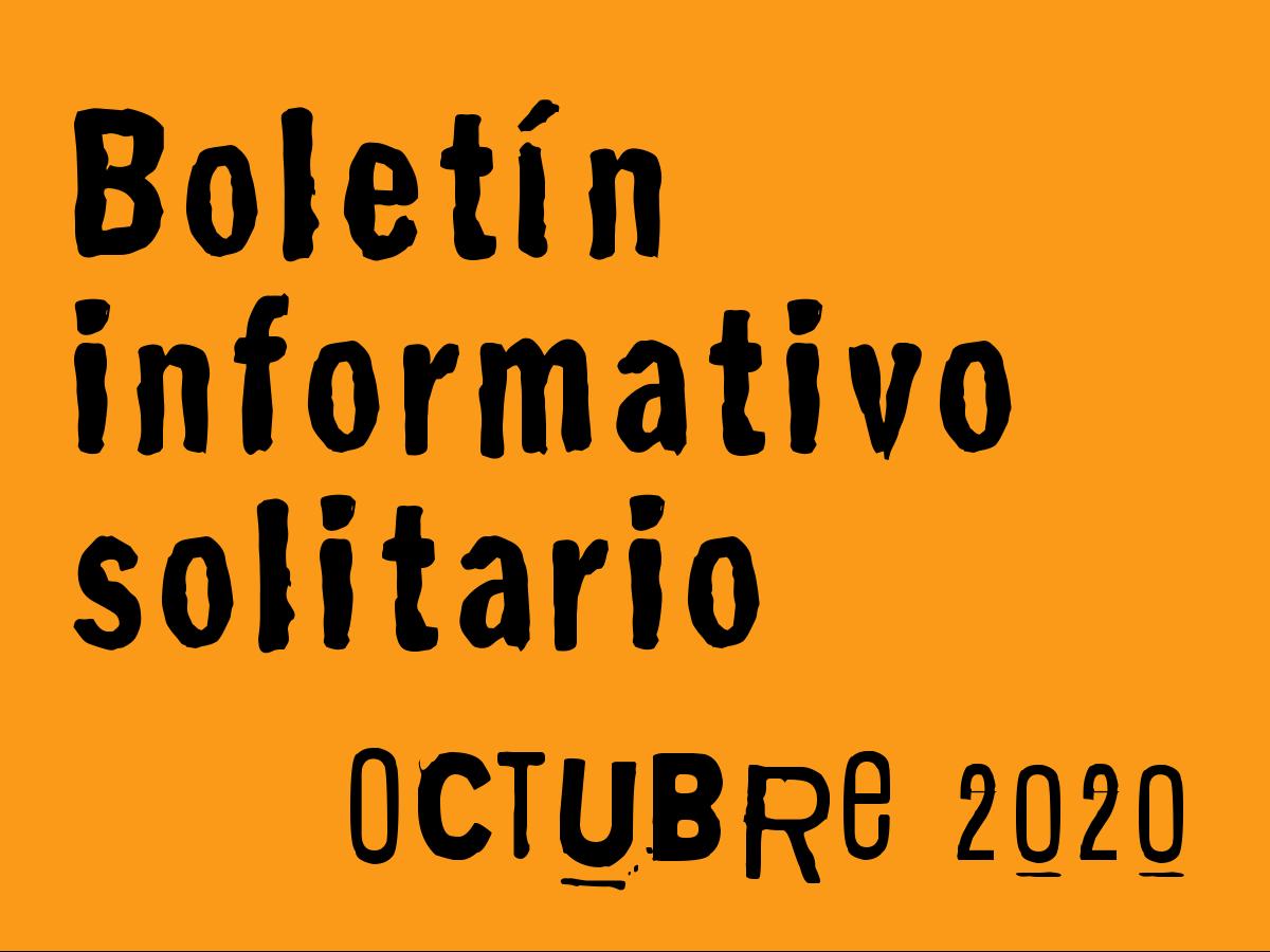 Boletín Informativo Solitario: octubre 2020