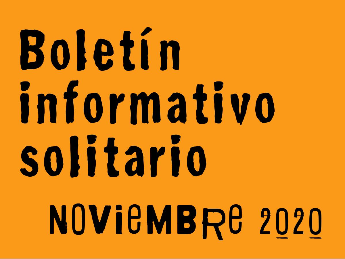 Boletín Informativo Solitario: noviembre 2020