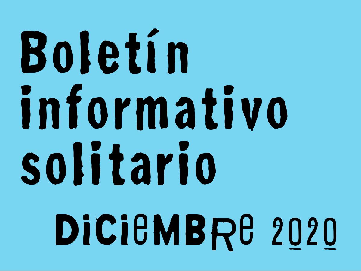 Boletín Informativo Solitario: diciembre 2020