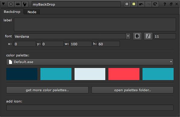 Backdrop Palette - UI - Python - Nukepedia