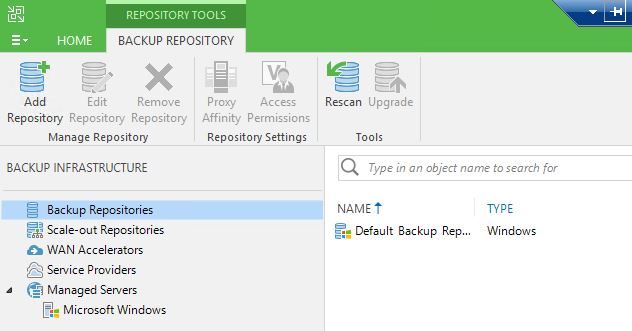 Backup Proxies missing from Backup Infrastructure menu