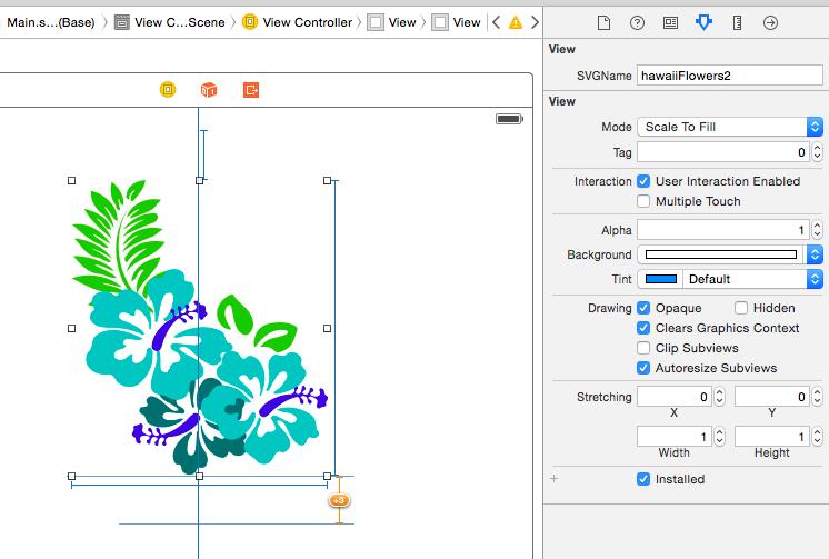Screenshot of SVGView in Interface Builder