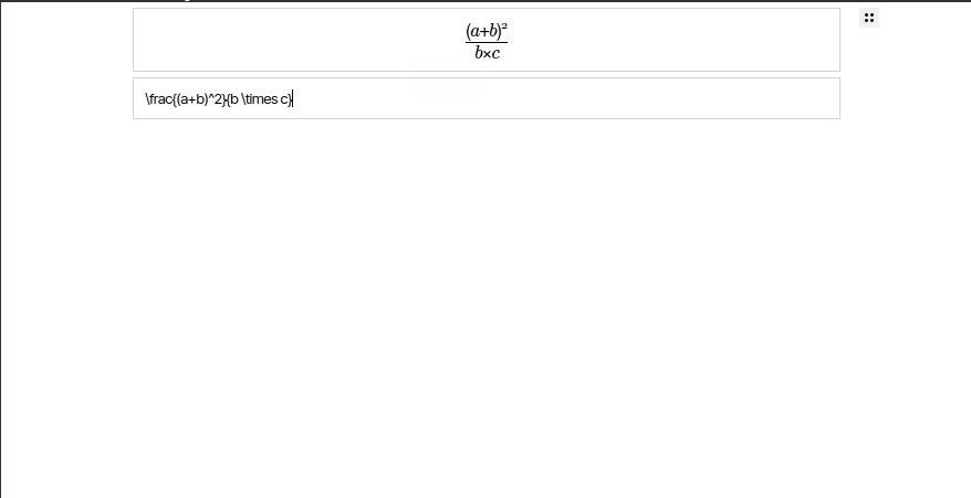 Screenshot of EditorJS-LaTeX