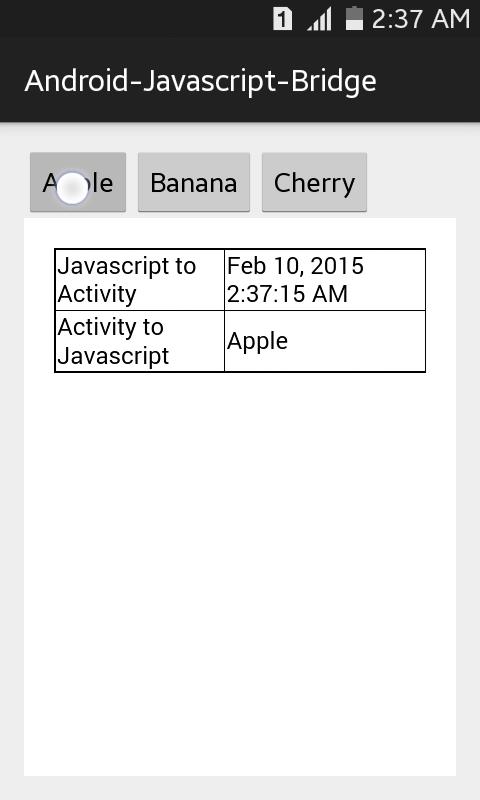 Android-Javascript-Bridge