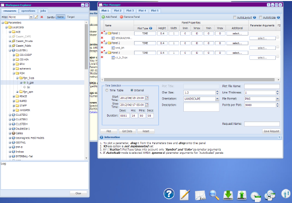 Parameter Input for AMDA Plot