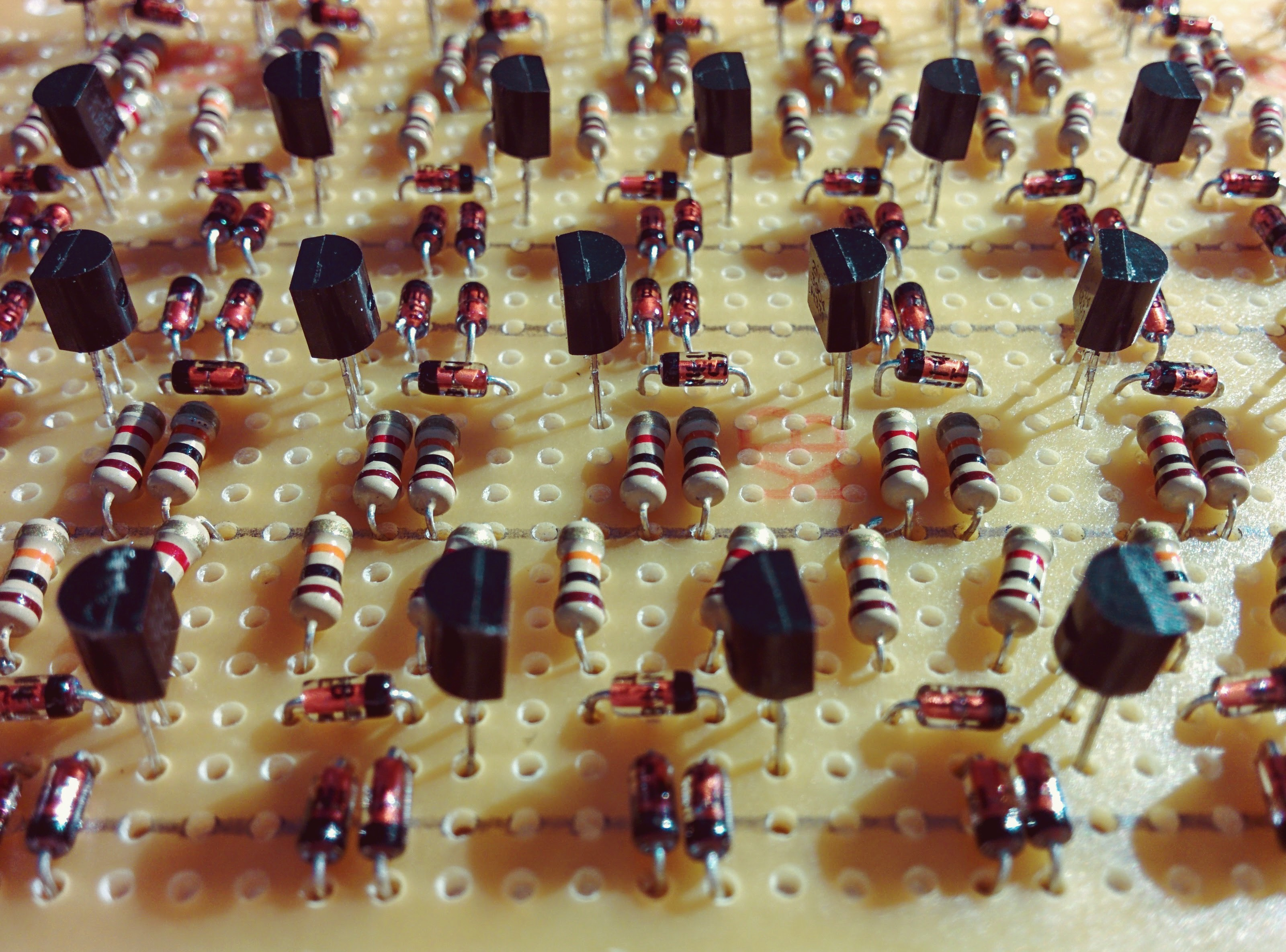 Artful picture of a protoboard