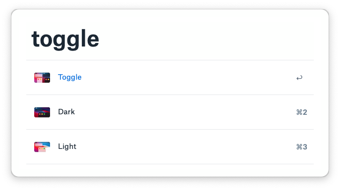 Preview of the toggle workflow