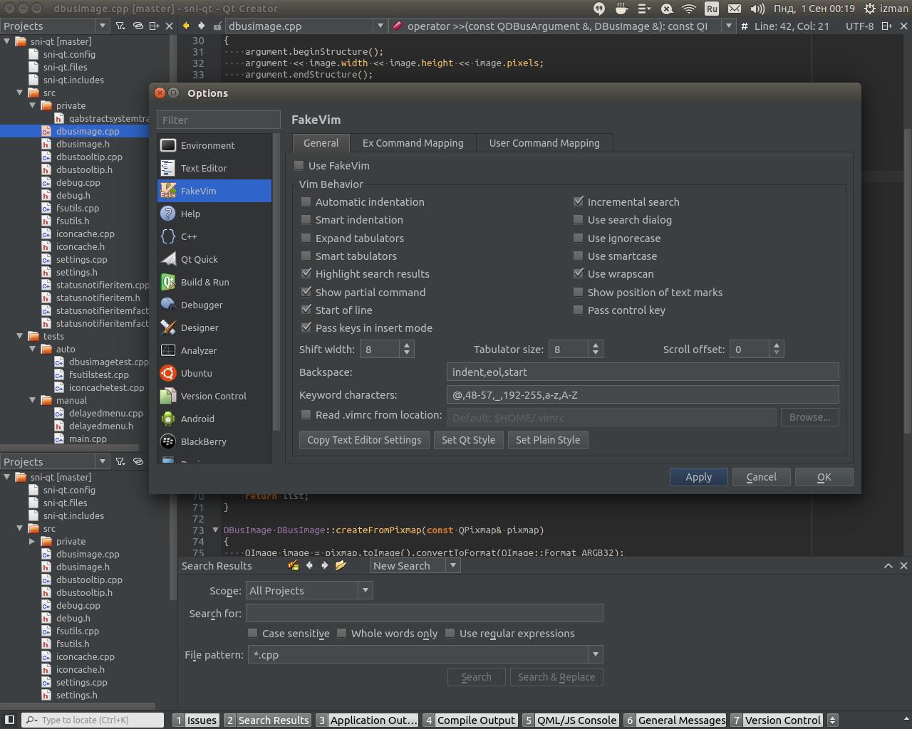 Options Dialog - Screenshot