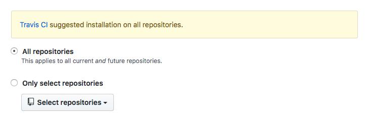 Travis CI Repository Selection
