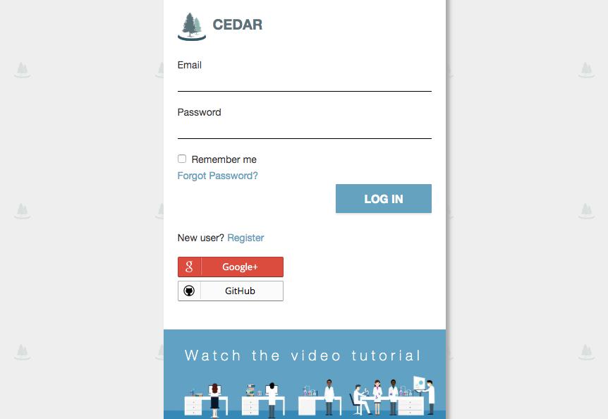 CEDAR Login Panel