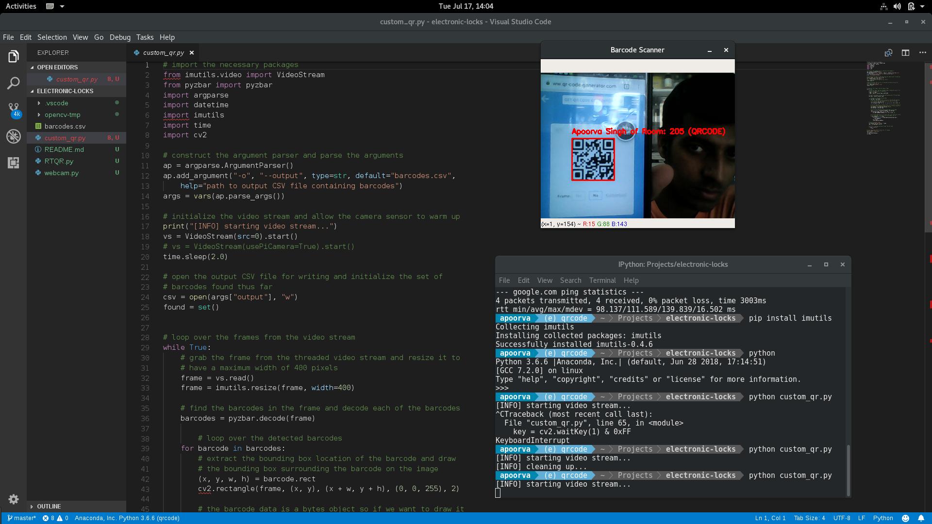 GitHub - meticulousCraftman/QR-Code: A real-time QR Code