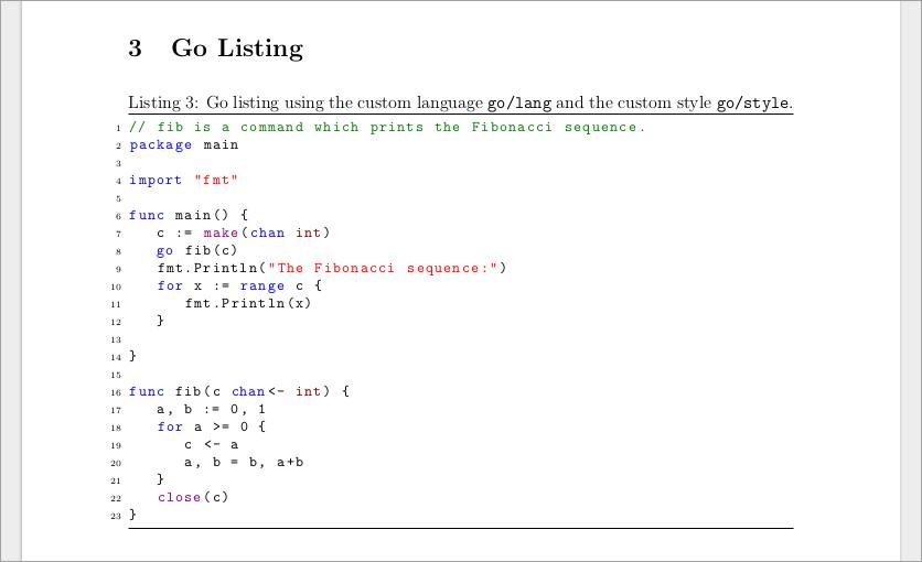listings example latex