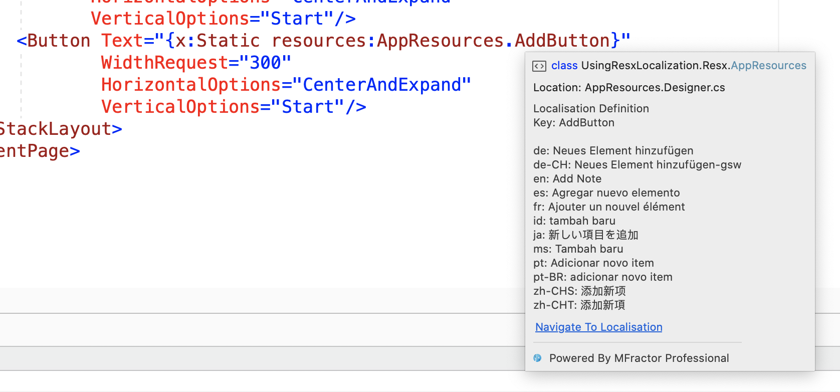 XAML localisation tooltips