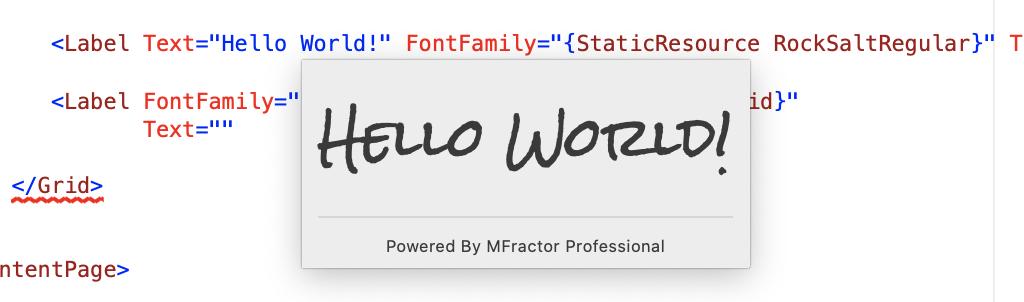 Font text tooltips