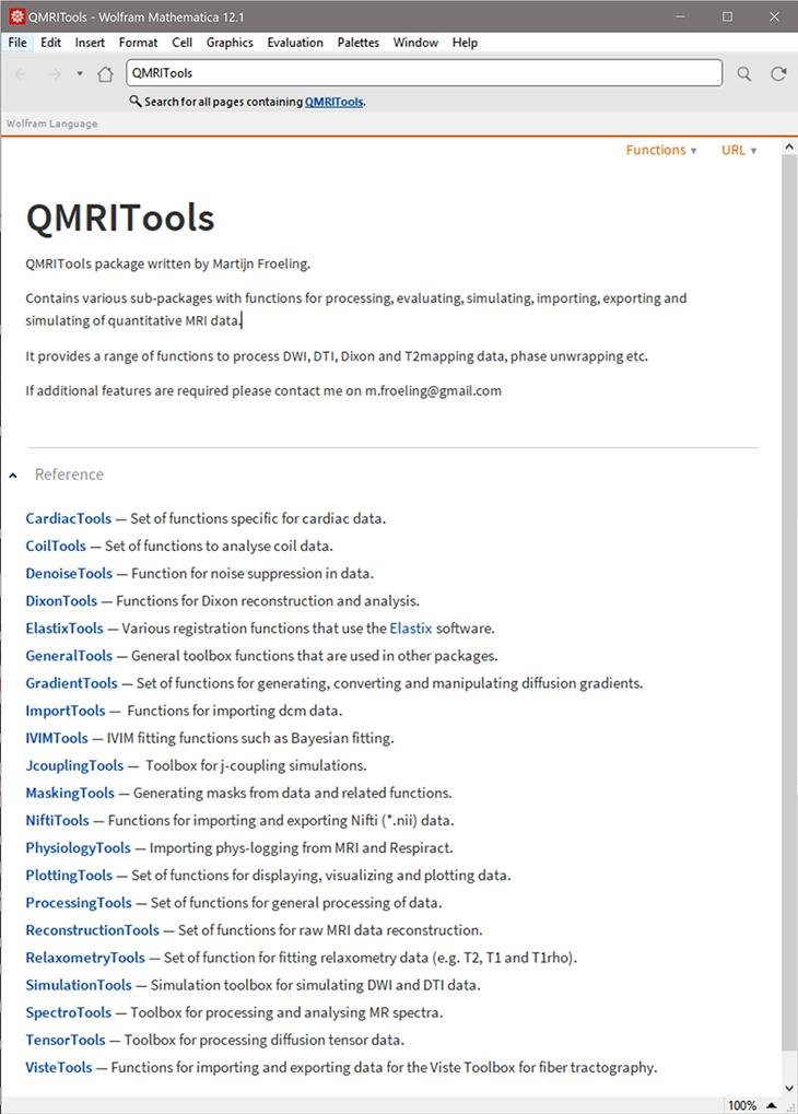 Guides QMRITools mathematica documentation
