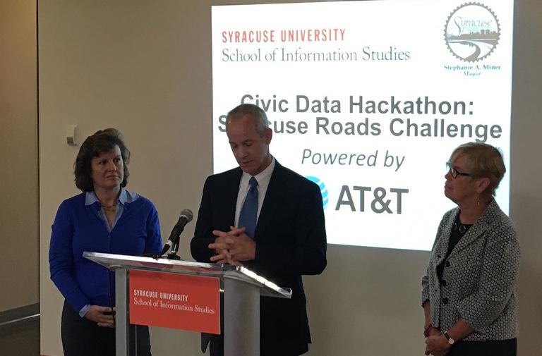 Syracuse Road Data Challenge Kickoff: Syracuse University, Syracuse, NY - September 2016