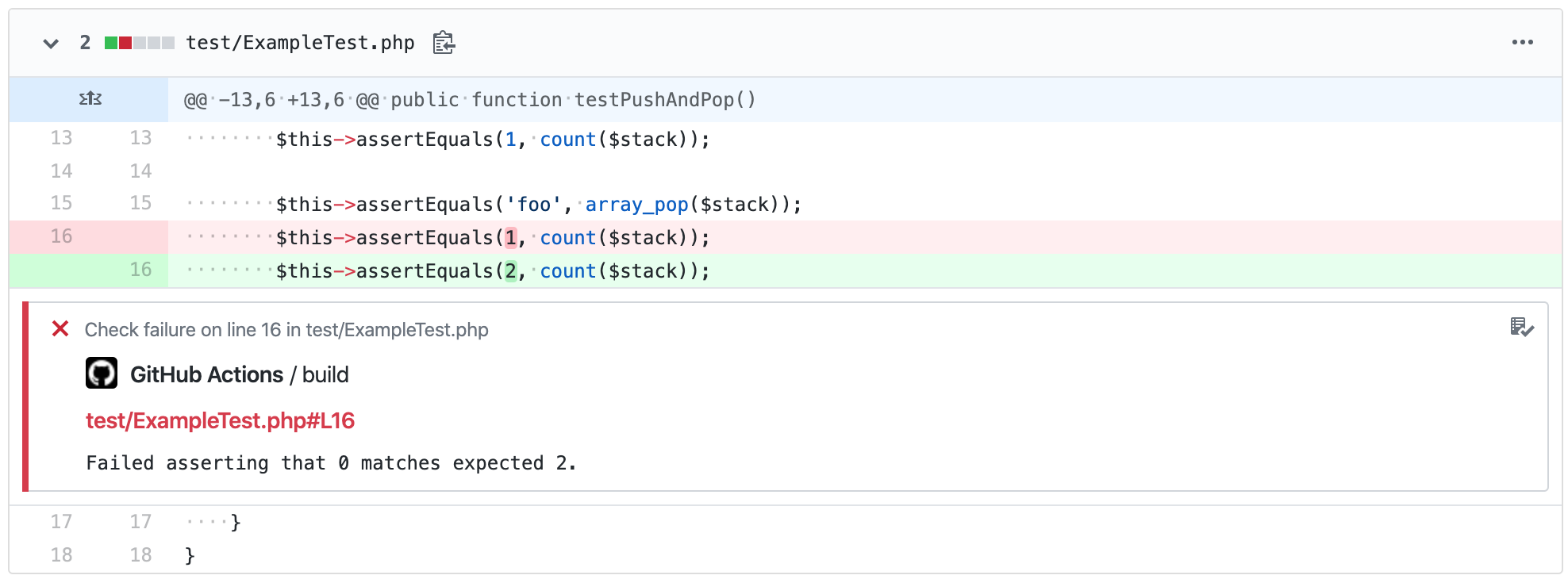 PHPUnit Action Matcher Context Example