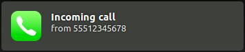 screenshot of growl incoming call