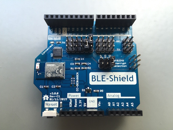 Services and Characteristics of the BLE-Shield v3.0.0
